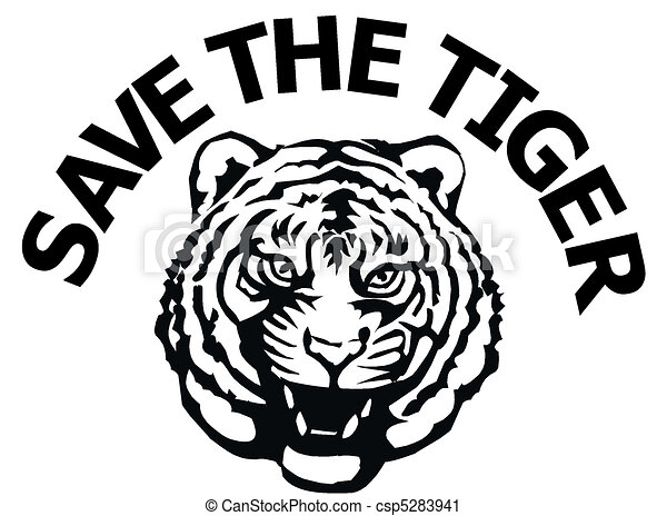 Save The Tiger Tiger Print With A Message