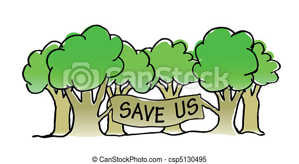 save the trees illustration save the trees vector illustration