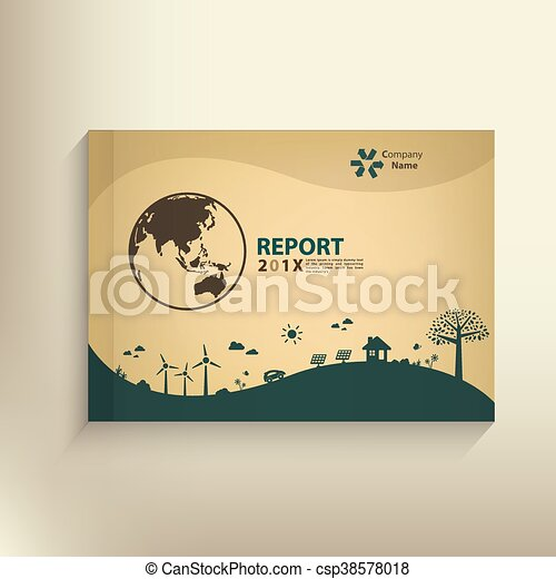 Save the world vector CSR report Cover design for GO green concept - csp38578018