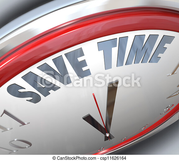 Save Time Clock Management Tips Advice Efficiency - csp11626164