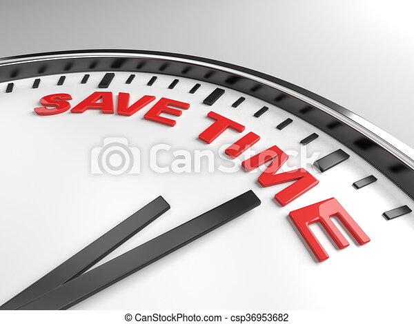save time - csp36953682