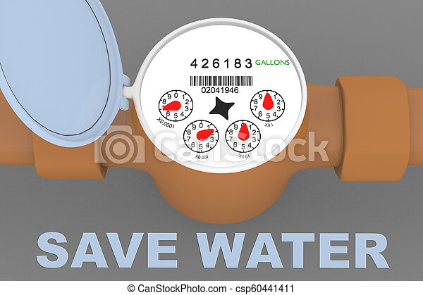SAVE WATER concept - csp60441411