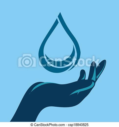 save water design  - csp18840825