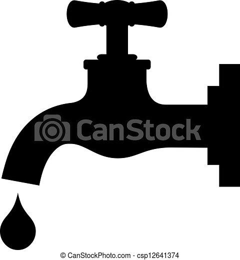 Save water sign - csp12641374