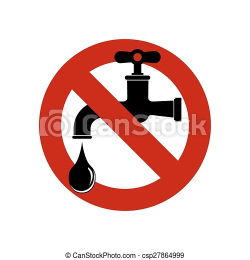 Save water sign, vector illustration. faucet icon. - csp27864999
