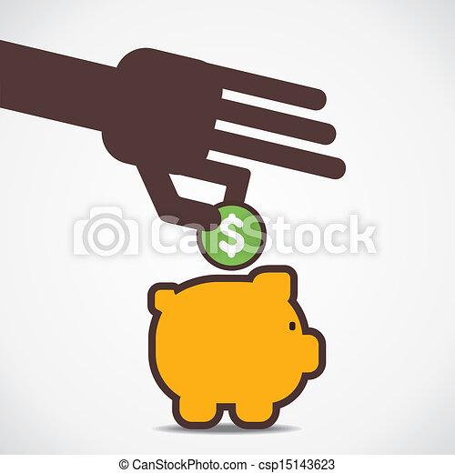 saving money concept - csp15143623