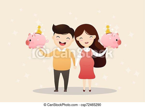 Saving money for future. - csp72465290