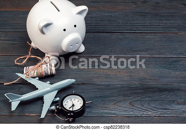 Saving planning for Travel budget of holiday concept - csp82238318