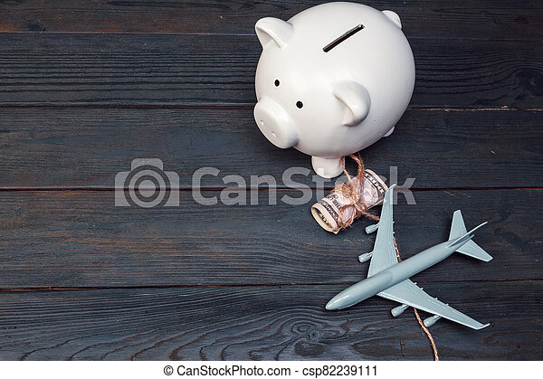 Saving planning for Travel budget of holiday concept - csp82239111