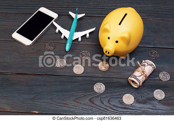 Saving planning for Travel budget of holiday concept - csp81636463