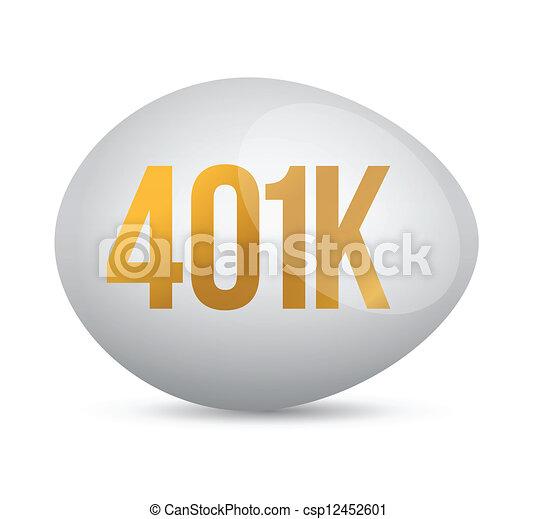 savings 401k financial planning retirement design - csp12452601