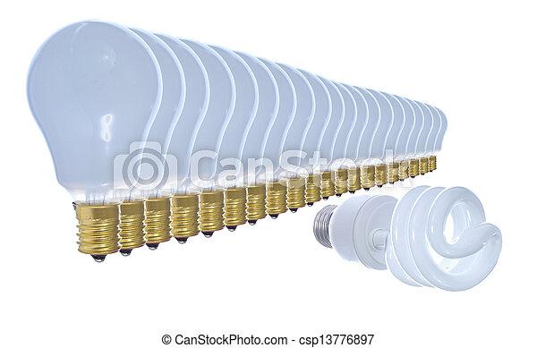 Ahorros de energía. - csp13776897