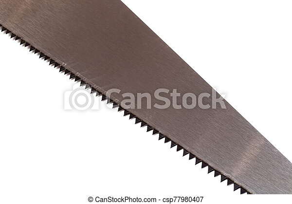 Saw blade isolated on a white background - csp77980407