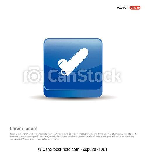 Saw Icon - 3d Blue Button - csp62071061
