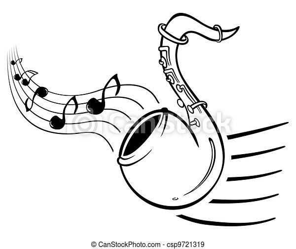 Sax music - csp9721319