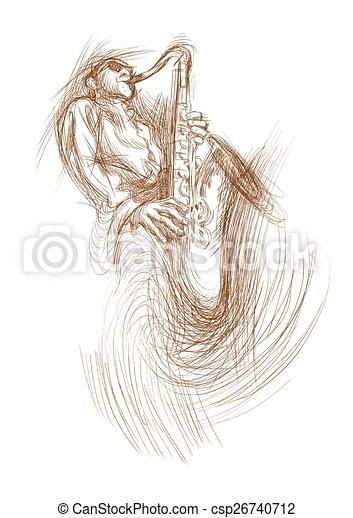 sax player - csp26740712