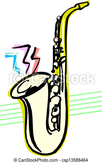 saxophone clip art vector search drawings and graphics images rh canstockphoto com saxophone clip art free saxophone clip art free