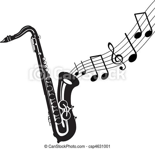 Musique dehors saxophone venir - Dessin saxophone ...