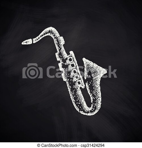 saxophone icon - csp31424294