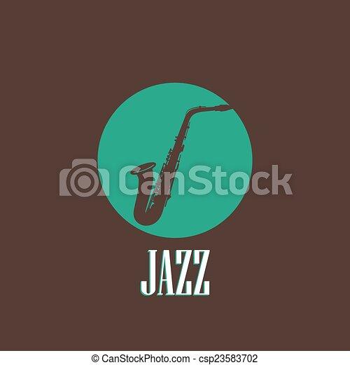 saxophone, illustration - csp23583702