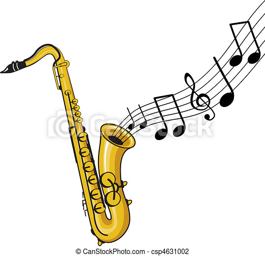 a musical saxophone vector illustration search clipart drawings rh canstockphoto com saxophone images clip art saxophone clip art black and white