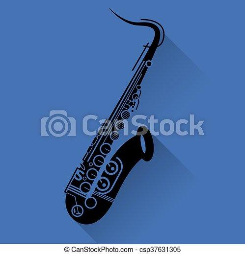 Saxophone instrument icon - csp37631305