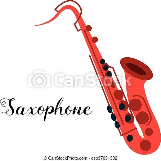 Saxophone musical instrument - csp37631332