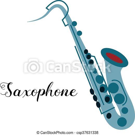 Saxophone musical instrument - csp37631338