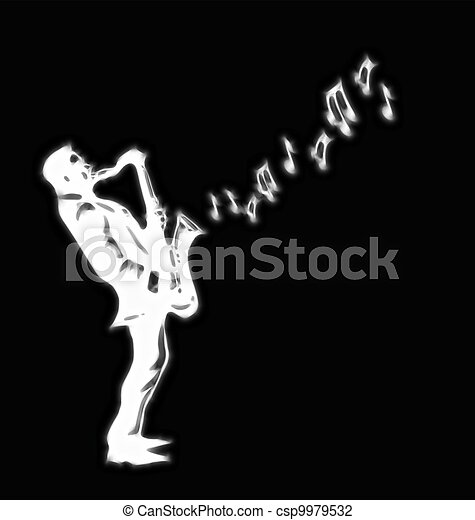 saxophone player  - csp9979532