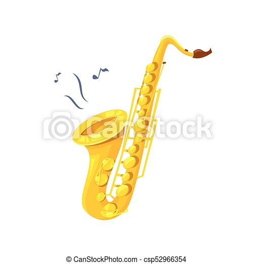 Saxophone vector illustration - csp52966354