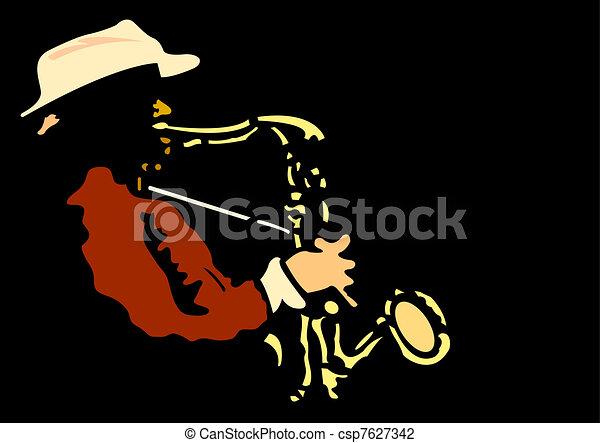 saxophonist  - csp7627342
