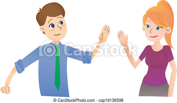 Say hi saying hello to each other in the workplace casual say hi csp19136598 m4hsunfo