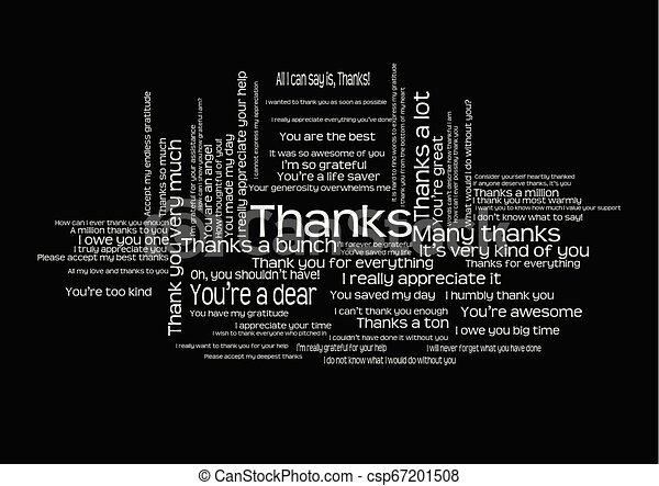 Many Thanks Clip Art - Royalty Free - GoGraph