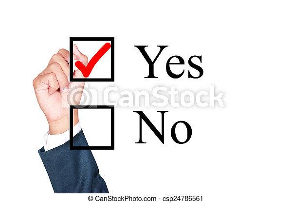 say yes tick mark on checkbox - csp24786561