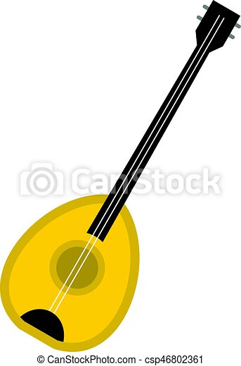 saz baglama music instrument icon isolated saz baglama clip art rh canstockphoto com clipart instrument de musique clipart instrument de mesure