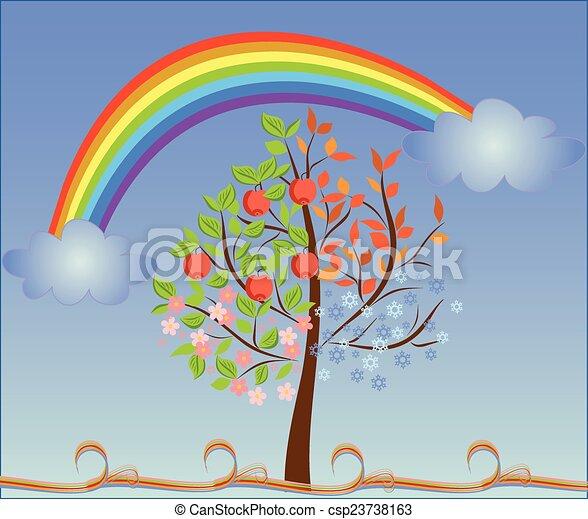 sazonal, árvore - csp23738163