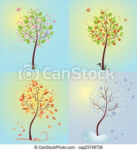 sazonal, árvore - csp23748736