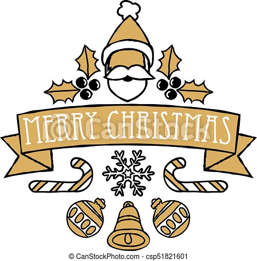 Sazonal Desenho Natal Feliz Saudacoes Feliz Natal Ou Escudo