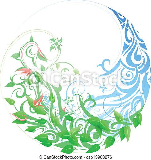 sazonal, primavera, inverno, cycle. - csp13903276