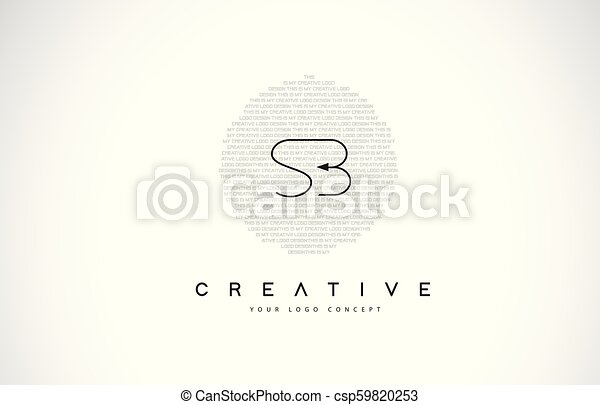SB S B Logo Design with Black and White Creative Text Letter Vector