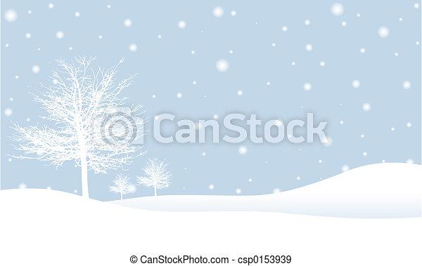 scène hiver - csp0153939