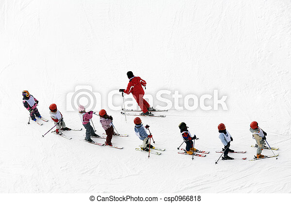 scène hiver - csp0966818