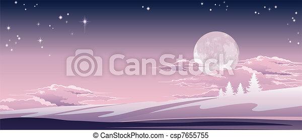 scène hiver, noël - csp7655755