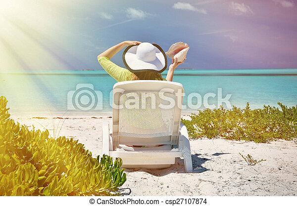 scène plage - csp27107874