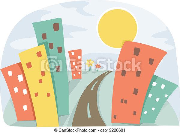 scène urbaine - csp13226601