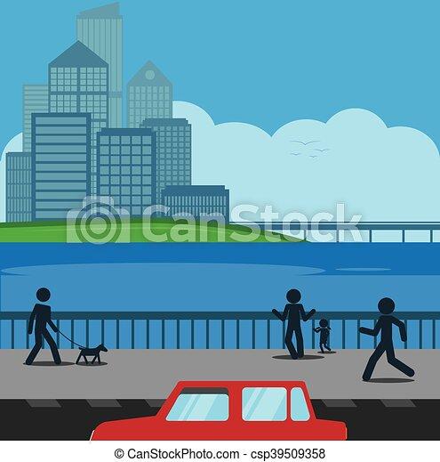 scène urbaine - csp39509358