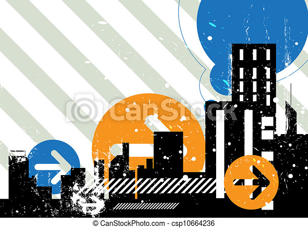 scène urbaine, fond - csp10664236