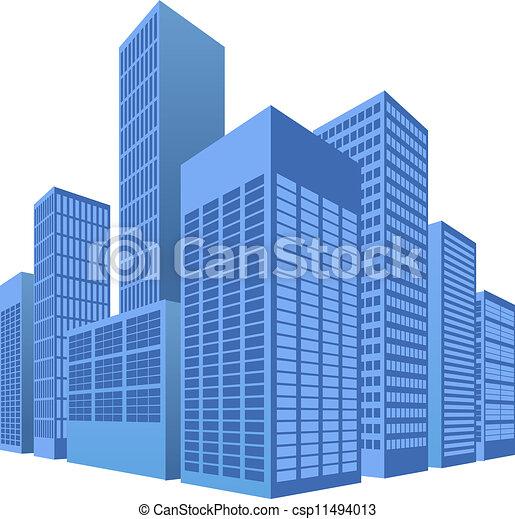 scène urbaine, illustration, ville - csp11494013