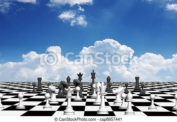 scacchi, apertura - csp8657441