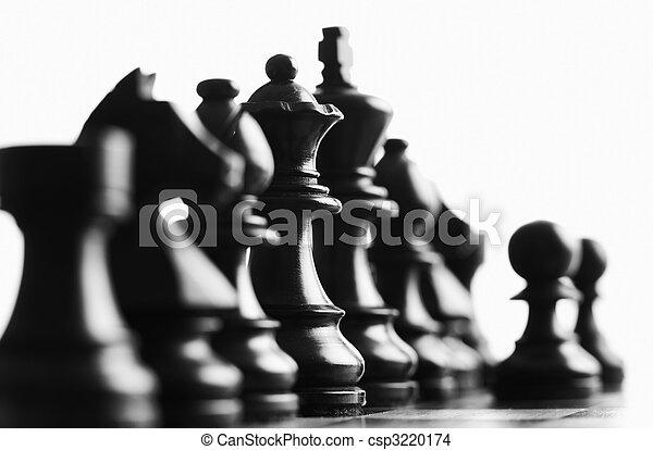 scacchi, regina, indietro, fuoco - csp3220174